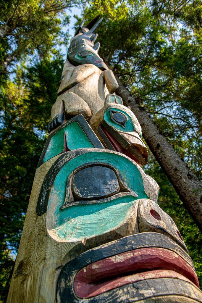 Alaska Native totem pole