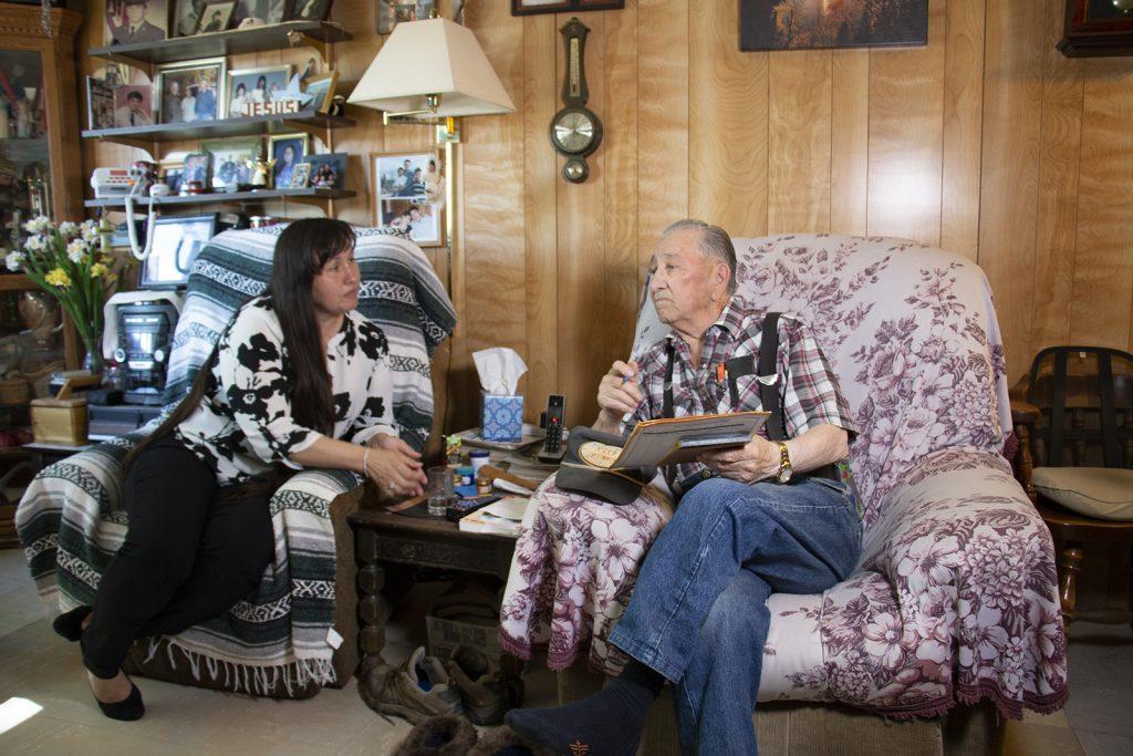 Doreen Deaton and native elder Luke Demientieff