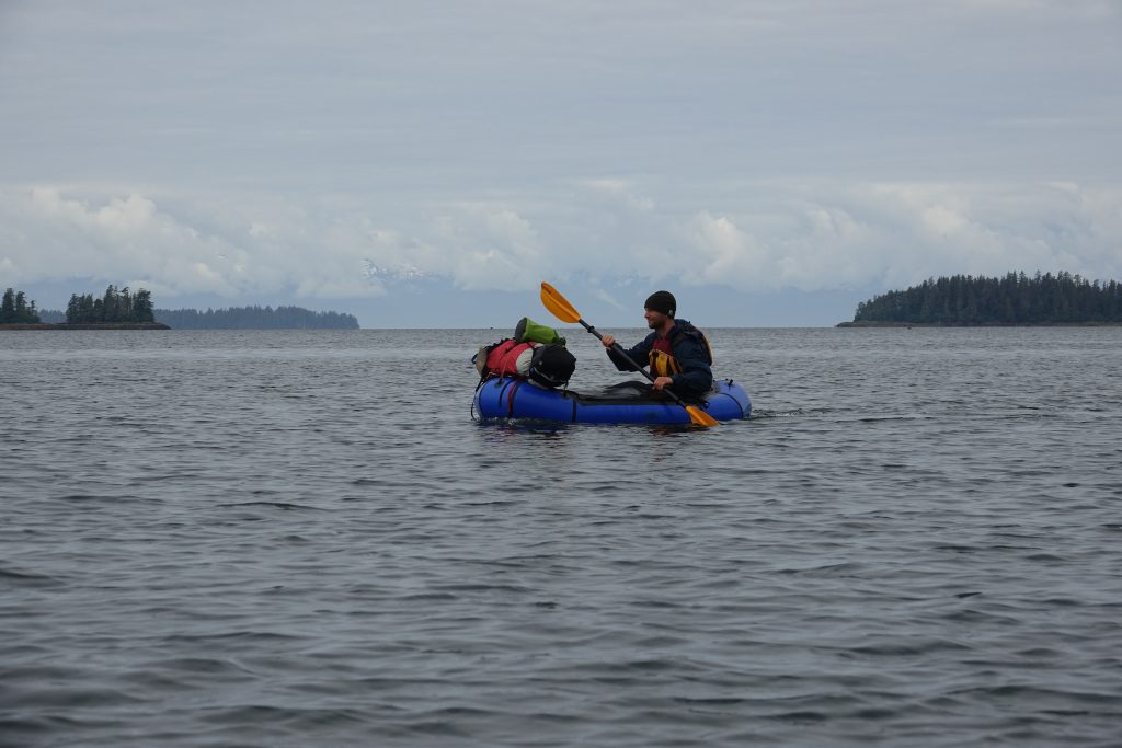 Packrafting across a bay