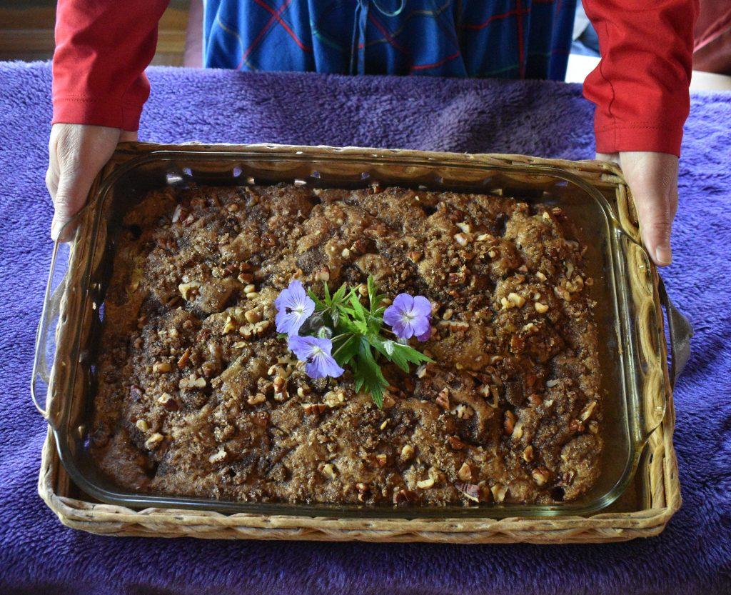 a Rhubarb cake