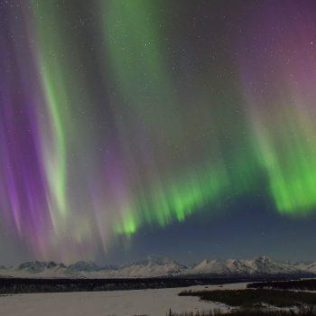 Mt. Denali AK Aurora