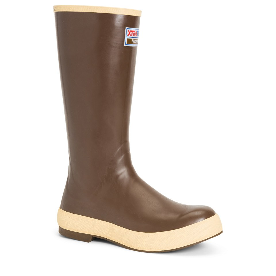 brown XTRATUF rubber boot