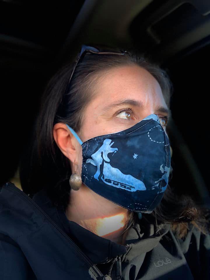 Anne Zink wearing a mask