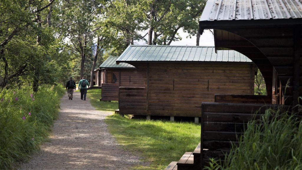 Wooden lodge buildings